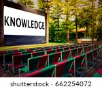 outdoor cinema screen ... | Shutterstock . vector #662254072