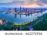 ho chi minh city  aerial view | Shutterstock . vector #662272936