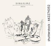bangalore  bengaluru  ... | Shutterstock .eps vector #662274352