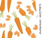 carrot pattern | Shutterstock .eps vector #662279872