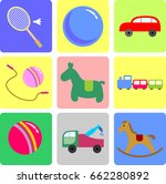 set of vector icons flat design ... | Shutterstock .eps vector #662280892