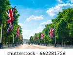 tourists on the mall as flags... | Shutterstock . vector #662281726