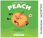 vintage peach poster design... | Shutterstock .eps vector #662287522