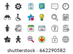 wc toilet icons. human male or... | Shutterstock .eps vector #662290582