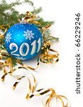 christmas  bauble with number... | Shutterstock . vector #66229246