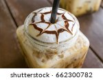 iced coffee mocha on table wood ...   Shutterstock . vector #662300782