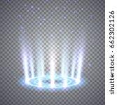 glittering magic fantasy portal.... | Shutterstock .eps vector #662302126