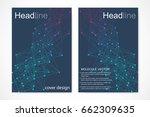 scientific brochure design...   Shutterstock .eps vector #662309635