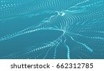 twisting particles lines on a... | Shutterstock . vector #662312785