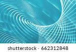 twisting particles lines on a... | Shutterstock . vector #662312848