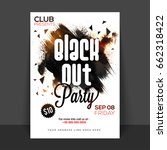 black out party poster  banner... | Shutterstock .eps vector #662318422
