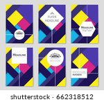 abstract vector layout... | Shutterstock .eps vector #662318512