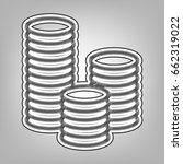 money sign illustration. vector.... | Shutterstock .eps vector #662319022