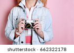fashion. a young woman in a... | Shutterstock . vector #662322178