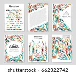 abstract vector layout... | Shutterstock .eps vector #662322742