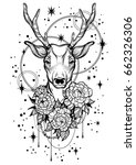 hand drawn trendy vector... | Shutterstock .eps vector #662326306