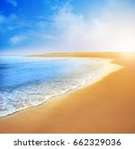 sea view and sunset landscape   Shutterstock . vector #662329036