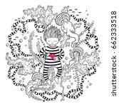 fantasy vector illustration... | Shutterstock .eps vector #662333518
