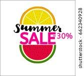 summer sale  30  vector... | Shutterstock .eps vector #662340928