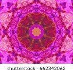 seamless kaleidoscope pink... | Shutterstock . vector #662342062