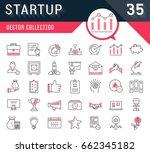set vector line icons startup... | Shutterstock .eps vector #662345182