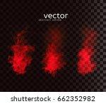 vector illustration of smoky... | Shutterstock .eps vector #662352982