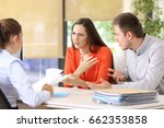 angry couple arguing telling...   Shutterstock . vector #662353858
