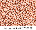 background in style pixel orange | Shutterstock . vector #662356222