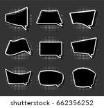 comics stiker simple label...   Shutterstock . vector #662356252