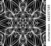 floral mehendi pattern. vector... | Shutterstock .eps vector #662357185
