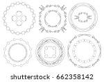 round frames   set of vintage...   Shutterstock .eps vector #662358142