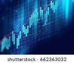 financial stock market graph on ... | Shutterstock . vector #662363032
