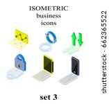 isometric business icons set ... | Shutterstock .eps vector #662365522