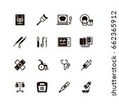 medical devices and equipment... | Shutterstock .eps vector #662365912