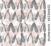 summer tropical flower pattern... | Shutterstock .eps vector #662366632