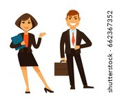 businesswoman with folder and... | Shutterstock .eps vector #662367352
