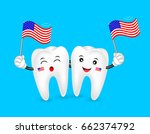 cute cartoon tooth character... | Shutterstock .eps vector #662374792