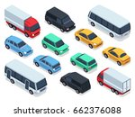 isometric vehicles and cars for ... | Shutterstock .eps vector #662376088