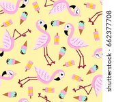 seamless pattern from pink... | Shutterstock .eps vector #662377708
