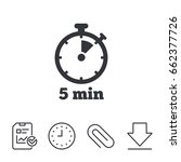 timer sign icon. 5 minutes... | Shutterstock .eps vector #662377726