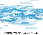 digital futuristic blue tech... | Shutterstock .eps vector #662378632