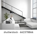 3d illustration. interior of... | Shutterstock . vector #662378866