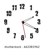 simple black and white clock... | Shutterstock .eps vector #662381962