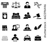 justice  legal  law and lawyer... | Shutterstock .eps vector #662396446