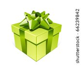 green gift with bow vector... | Shutterstock .eps vector #66239842