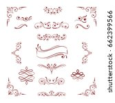 set of vintage decorations... | Shutterstock .eps vector #662399566