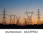 a long line of electrical... | Shutterstock . vector #66239962