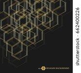 hexagonal geometric background. ... | Shutterstock .eps vector #662400226