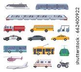 different municipal... | Shutterstock .eps vector #662400922
