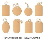different empty shop tags with... | Shutterstock .eps vector #662400955